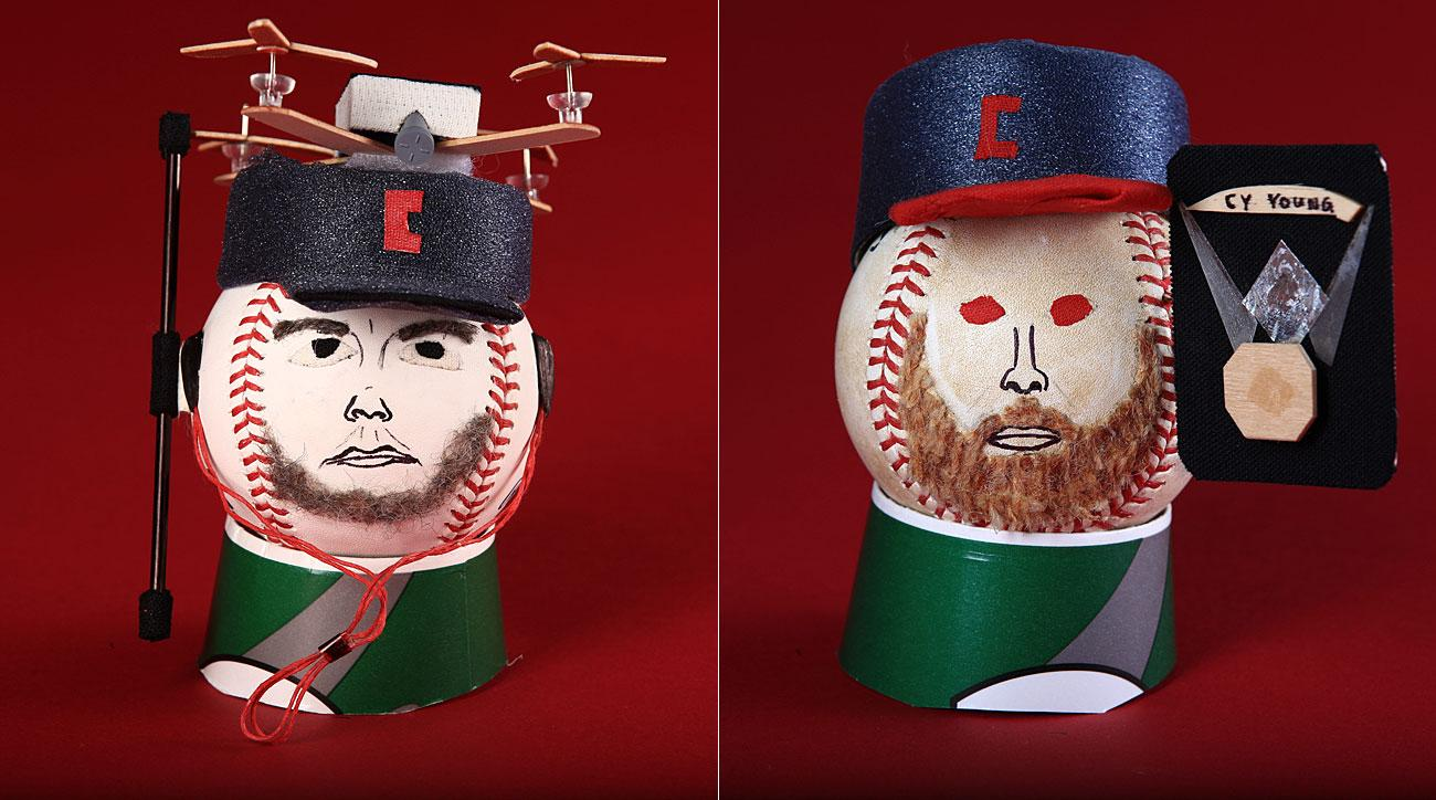 Trevor Bauer and Corey Kluber dolls, Cleveland Indians