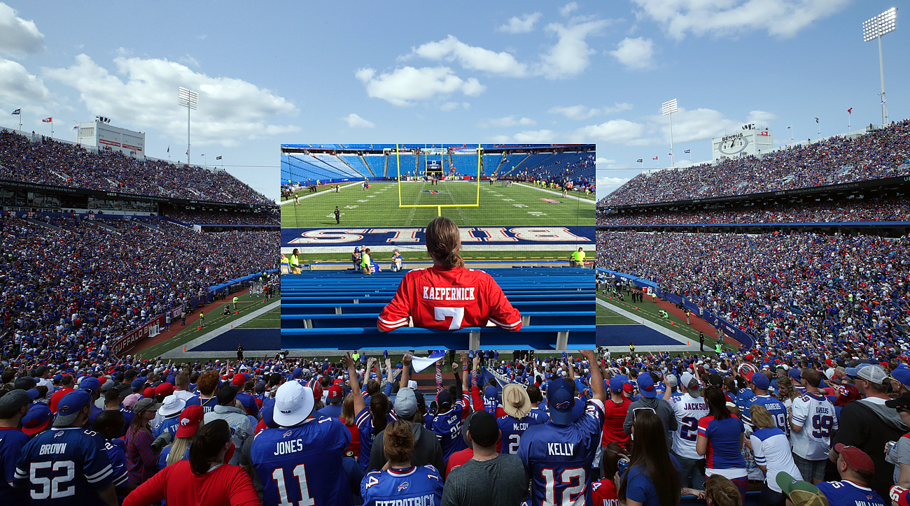 The MMQB's Tim Rohan wore a Colin Kaepernick jersey to last Sunday'w Bills-Jets game to gauge fan reactions.