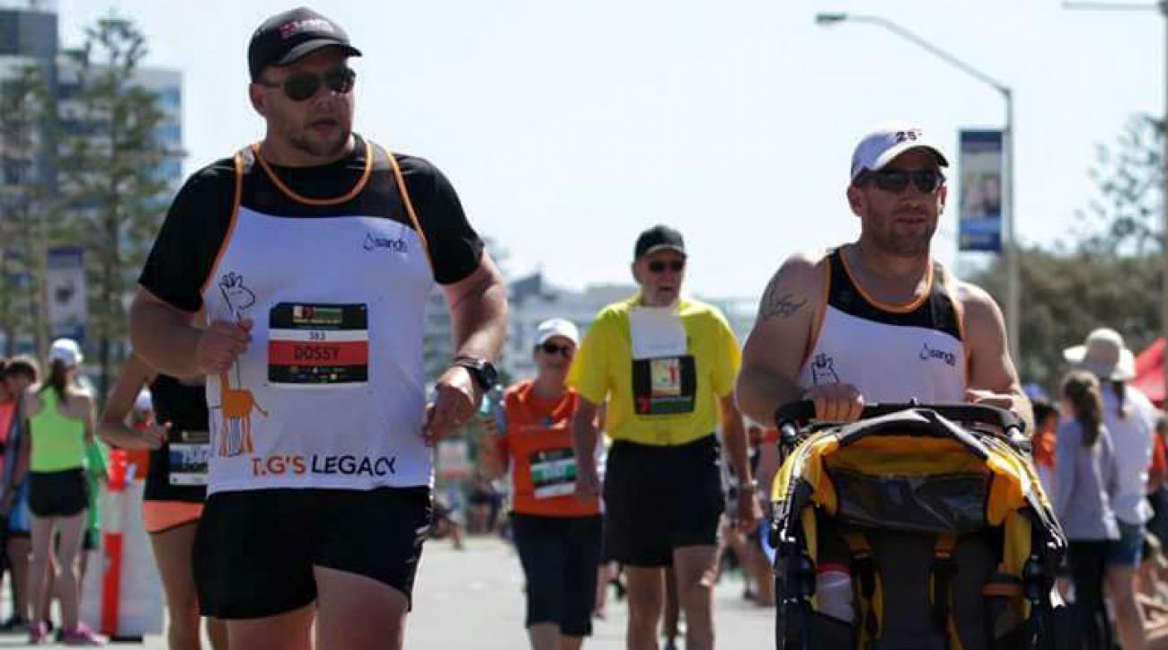 australia marathon stillborn son