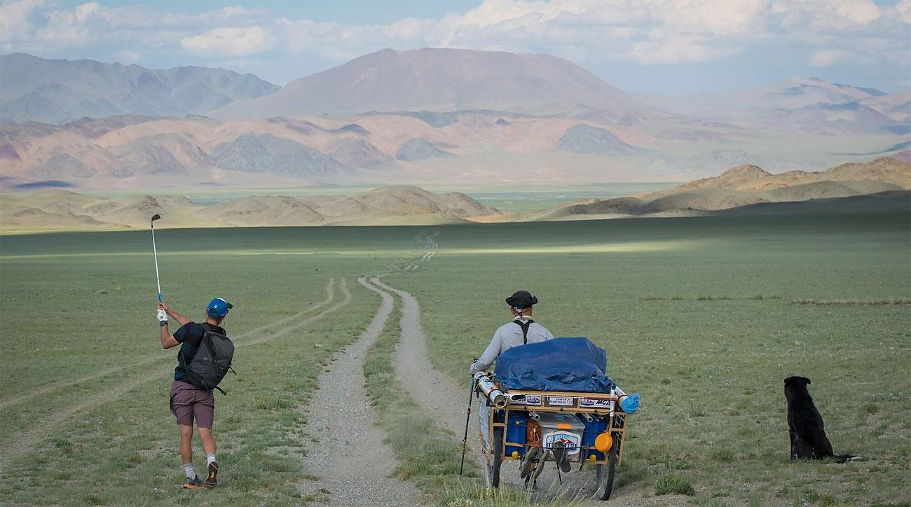 Adam Rolston completed an 80-day golf journey across Mongolia.