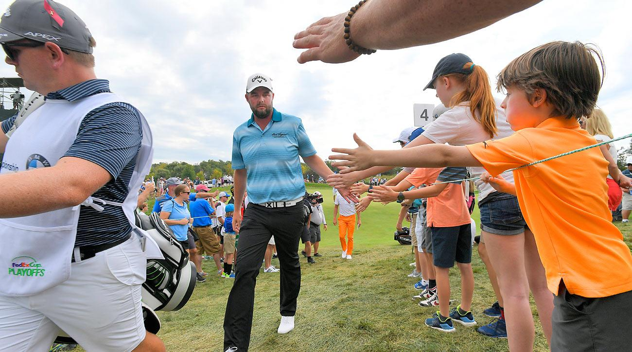 Marc Leishman rolled to a five-shot victory Sunday at the BMW Championship.