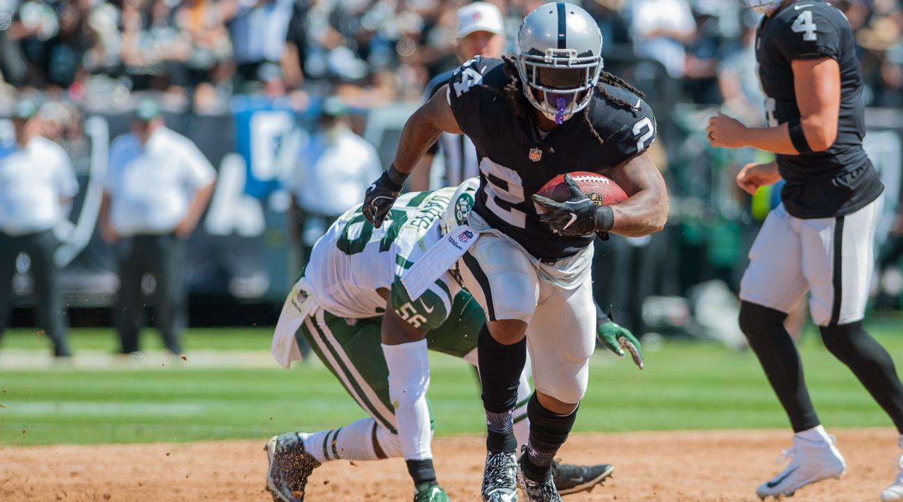 The Raiders rushing attack, led by Marshawn Lynch, ranks fifth in the NFL in yards per game (144.5) through the season's first two weeks.