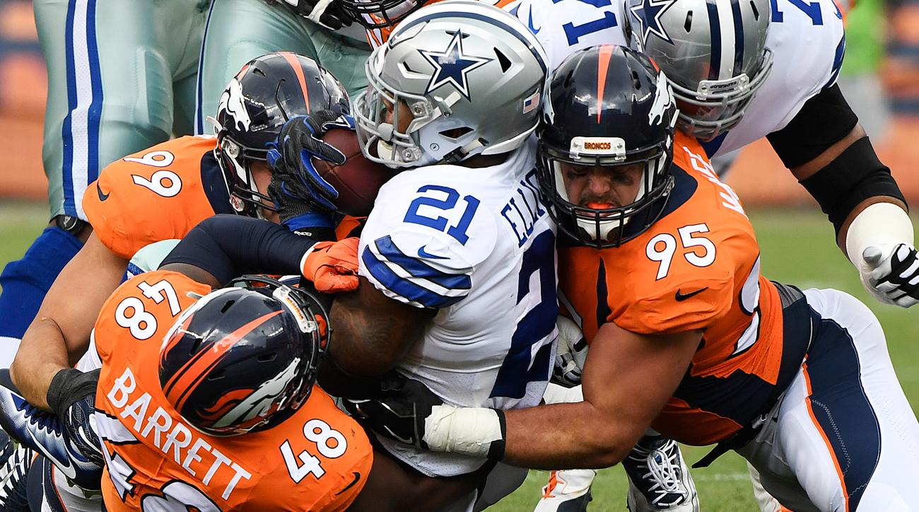 The Broncos defense bottled up Ezekiel Elliott, whose eight-yard rushing performance was his career worst.