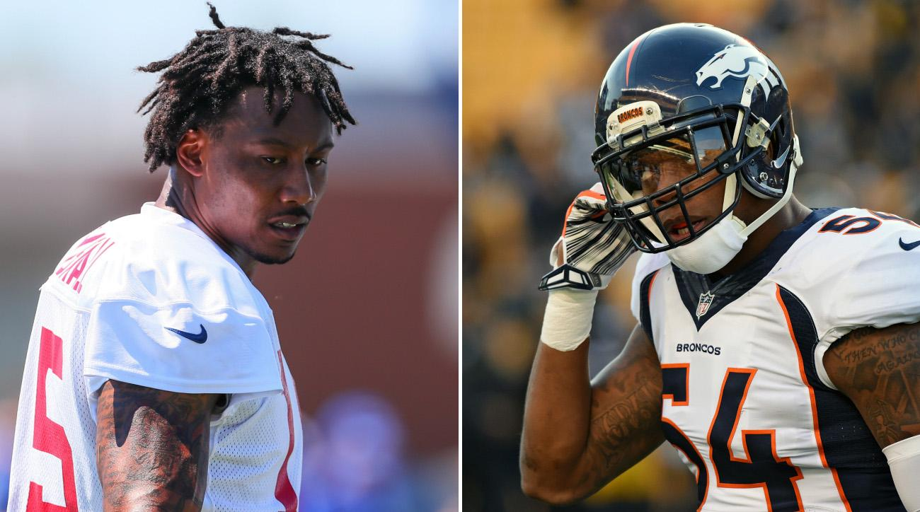 Brandon Marshall Giants fans yell at Broncos LB on Twitter