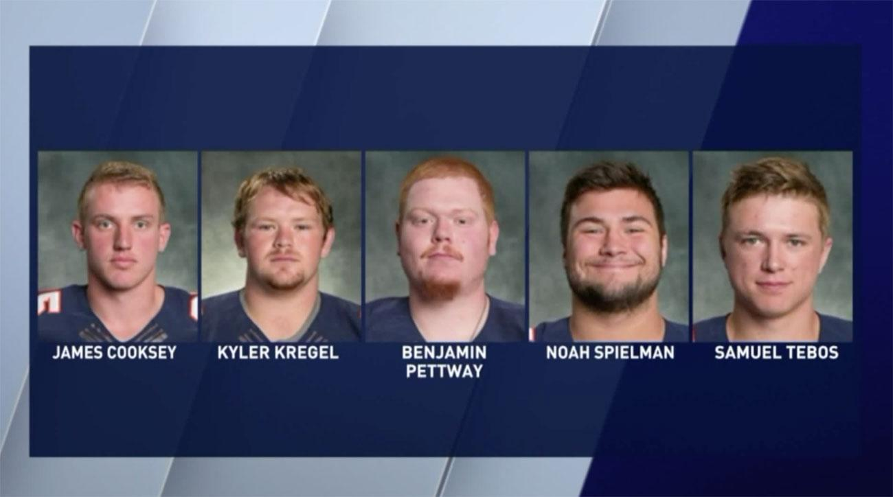 wheaton college football players hazing
