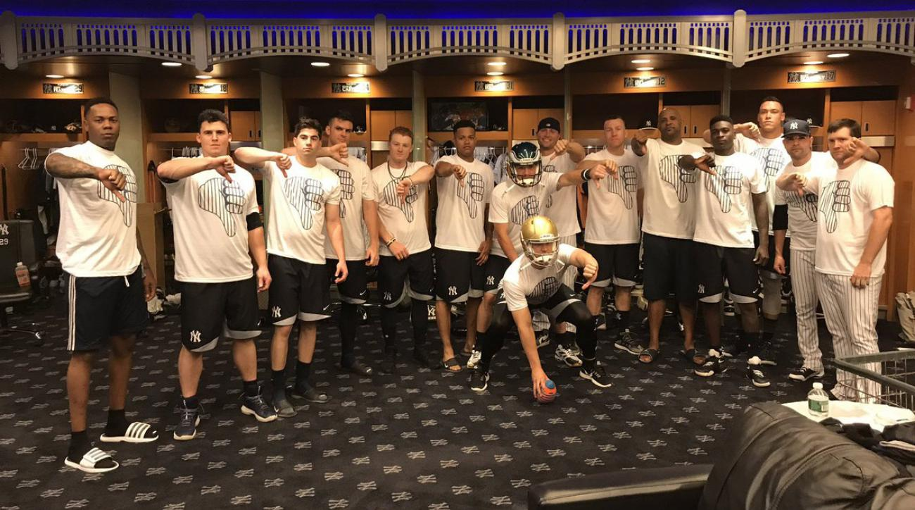 Yankees Thumbs Down Celebration Continues With T Shirts Si