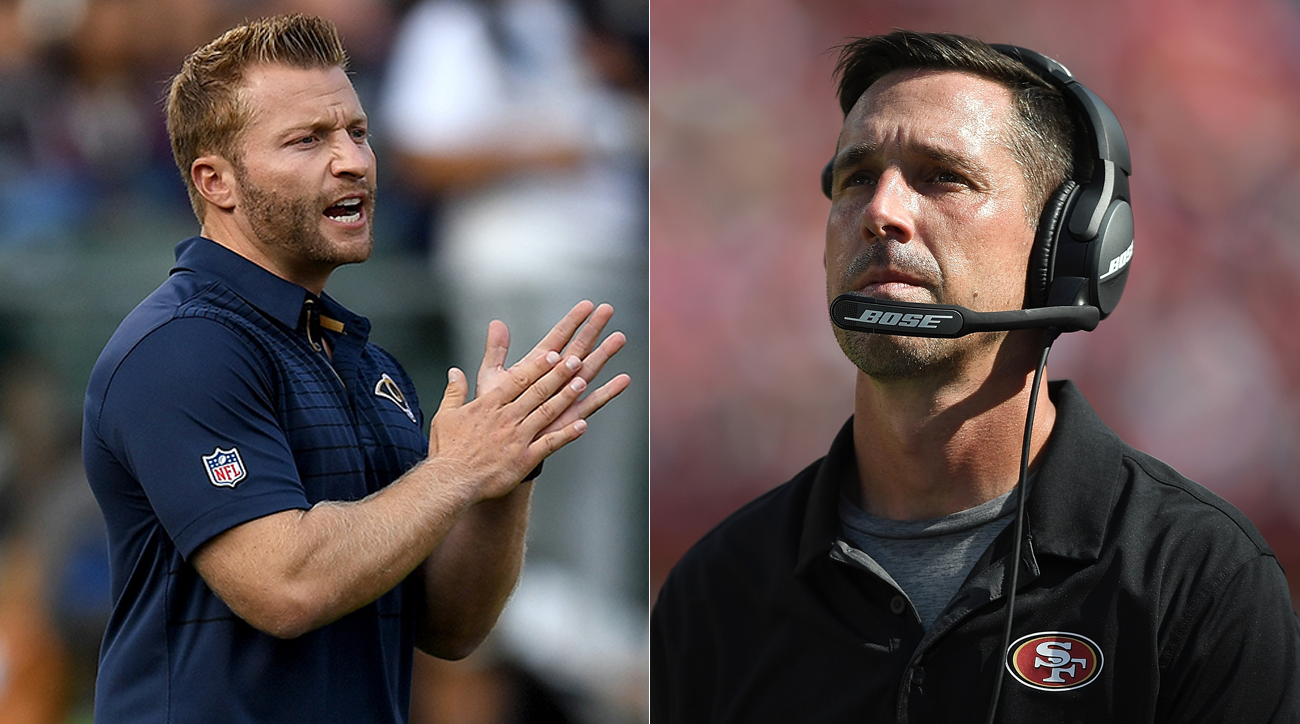 The weight of expectations sits on Sean McVay in his primetime debut as Los Angeles Rams coach, as he faces former boss Kyle Shanahan.