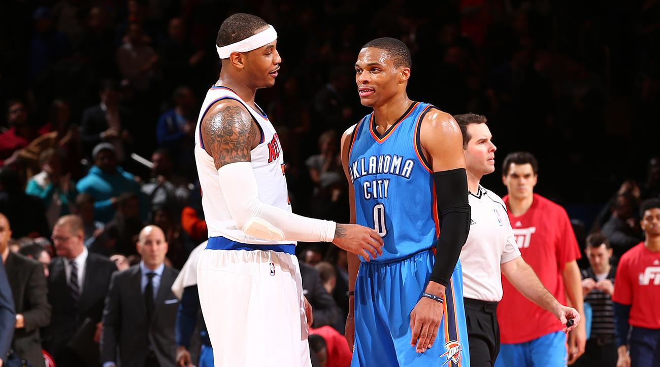 carmelo anthony trade  thunder now firmly in nba arms race