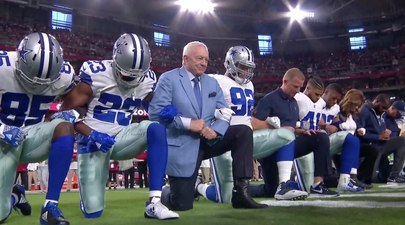Image result for cowboys kneeling