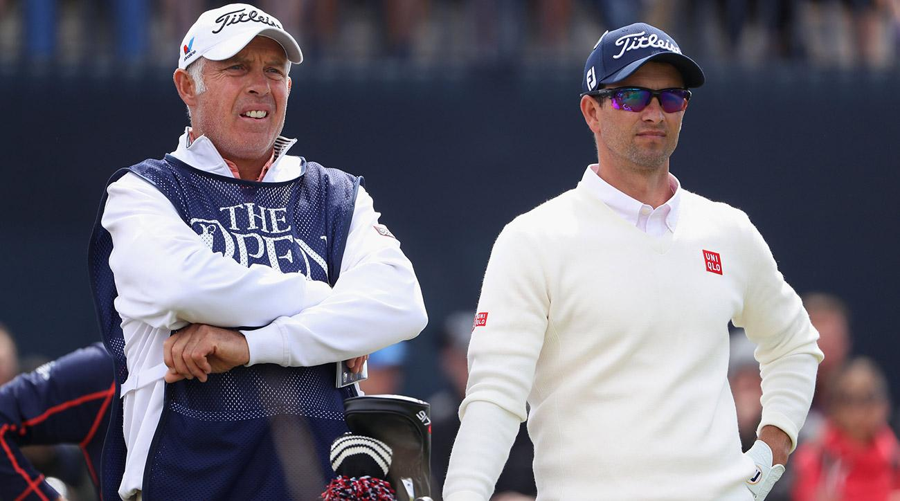Steve Williams and Adam Scott teamed up to win a Masters together in 2013.