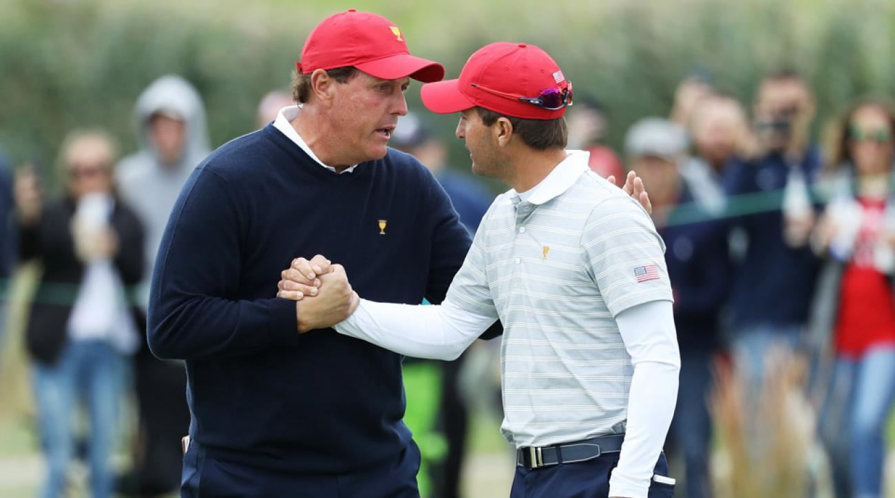 Phil Mickelson and partner Kevin Kisner are undefeated in team play at the 2017 Presidents Cup.