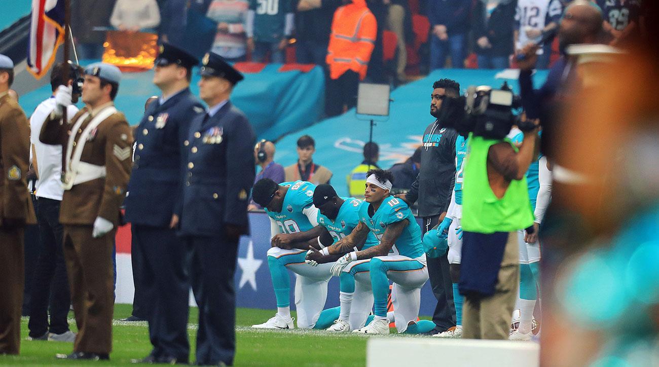 nfl national anthem protests week 4