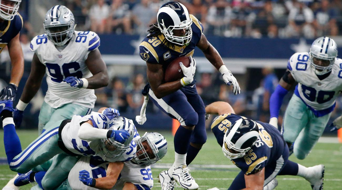 Todd Gurley's resurgence continues as he compiled a career-best 215 yards from scrimmage against the Cowboys.