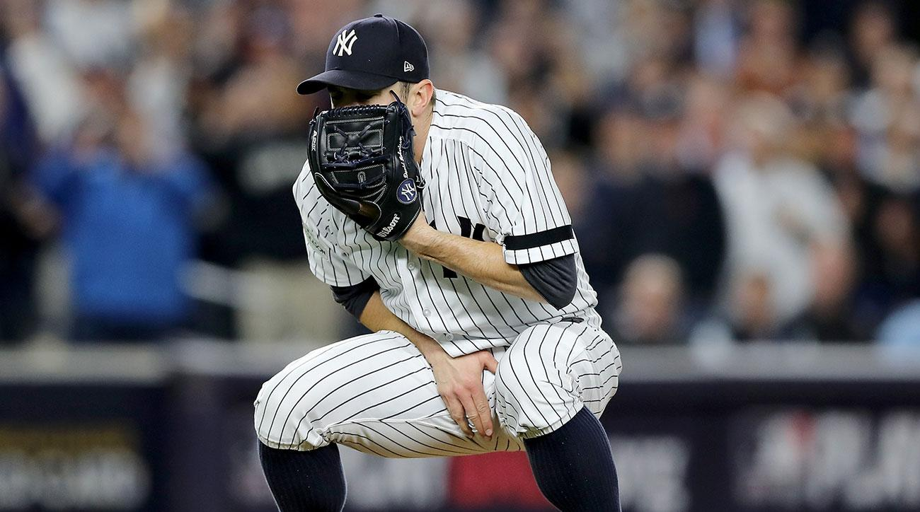 Gary Sanchez: New York Yankees catcher takes foul tip to groin