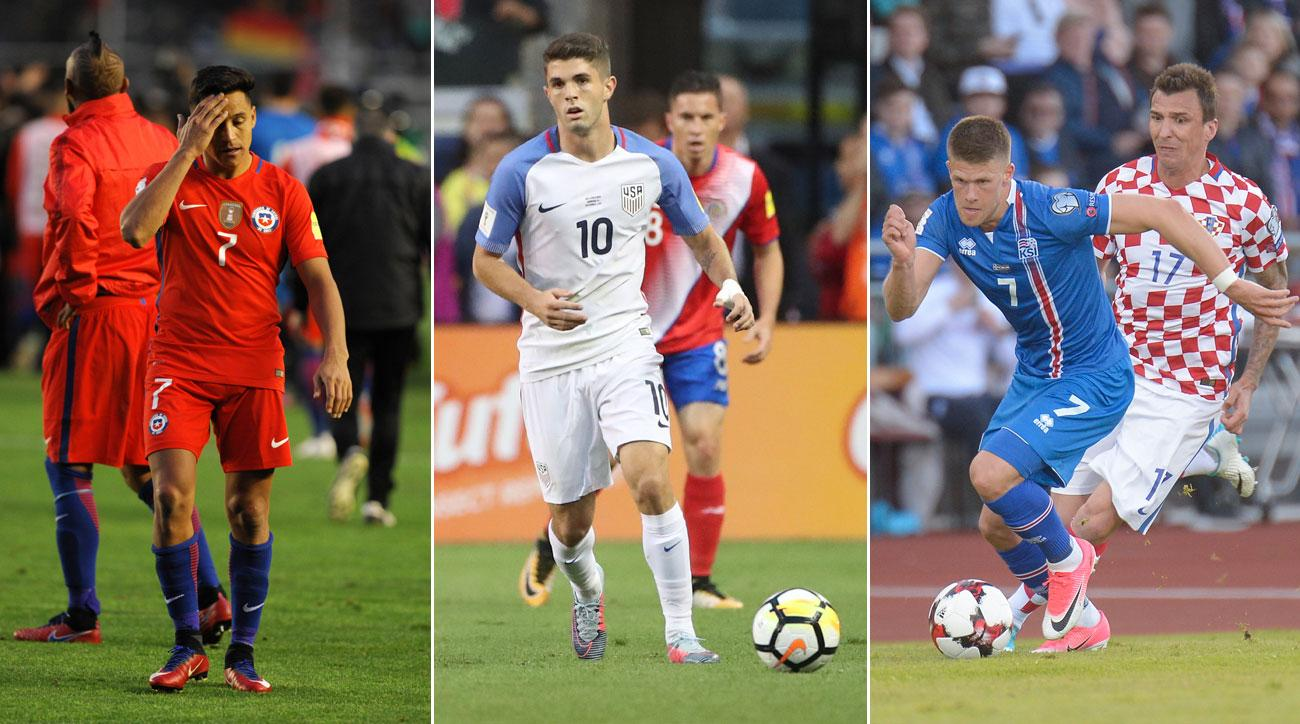 Chile, USA and Iceland are all fighting for their World Cup qualifying lives