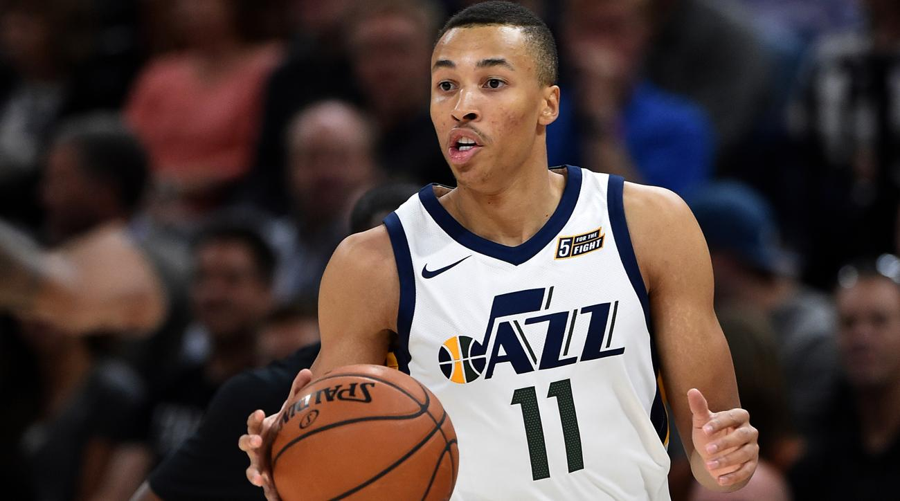 Dante Exum taken to hospital for MRI after injuring left shoulder