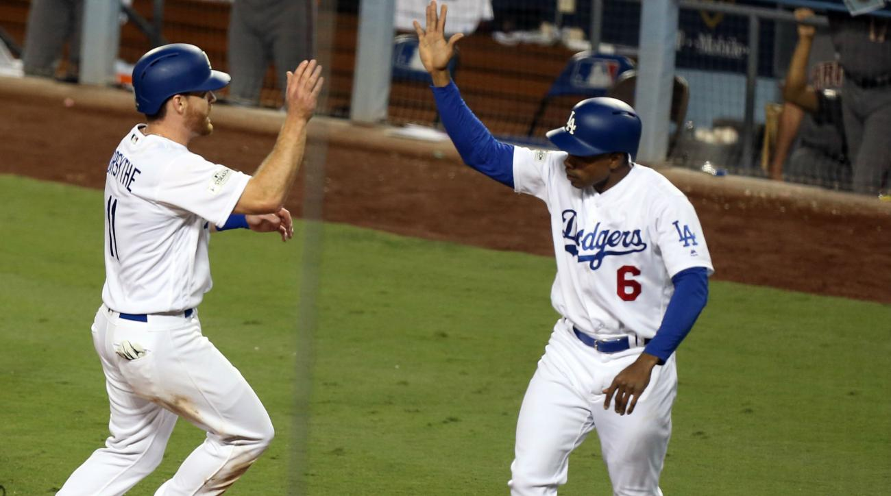 Dodgers lineup overcome starting pitching stumbles for 2-0 NLDS lead over Diamondbacks