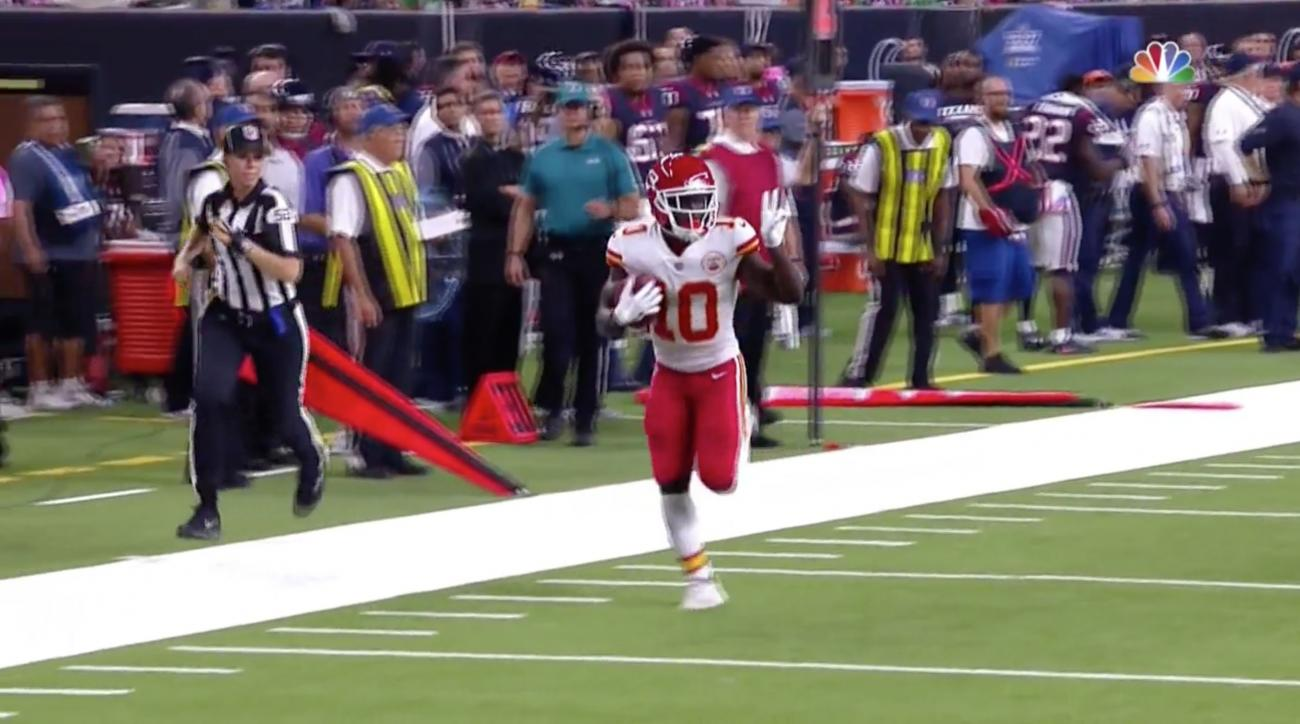 Tyreek Hill Chiefs receiver returns punt for touchdown video