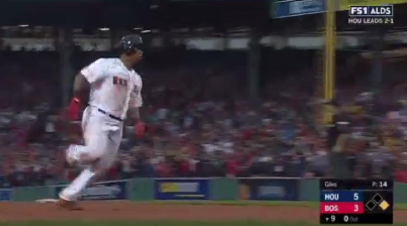 rafael devers red sox inside the park home run