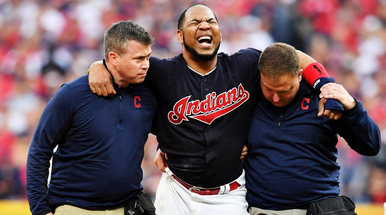Indians DH Encarnacion hopes to return for Game 5