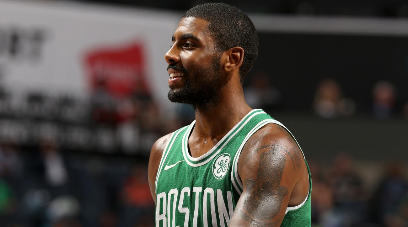 Kyrie Irving touts Boston as 'real, live sports city'