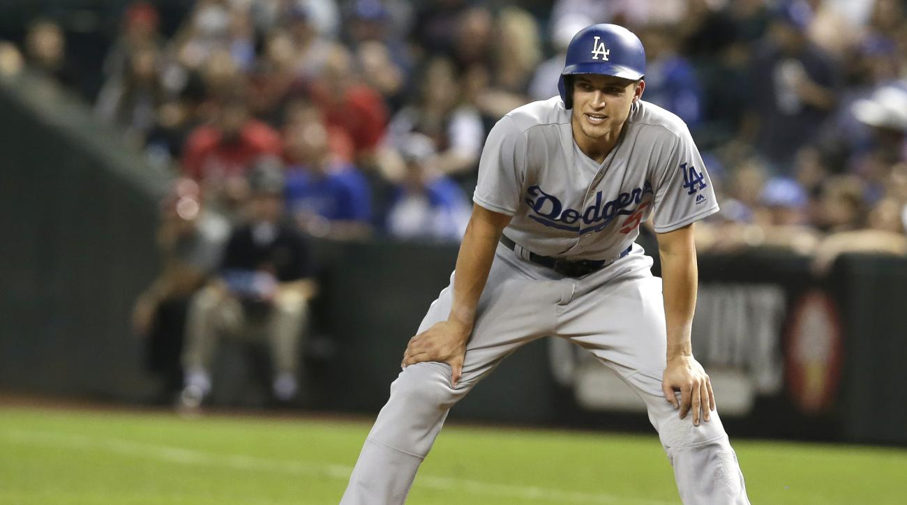 Corey Seager was left off the Dodgers' NLCS roster with a back injury.