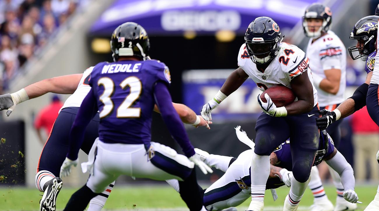 Jordan Howard ranks fifth in the NFL with 495 rushing yards through the first six weeks.