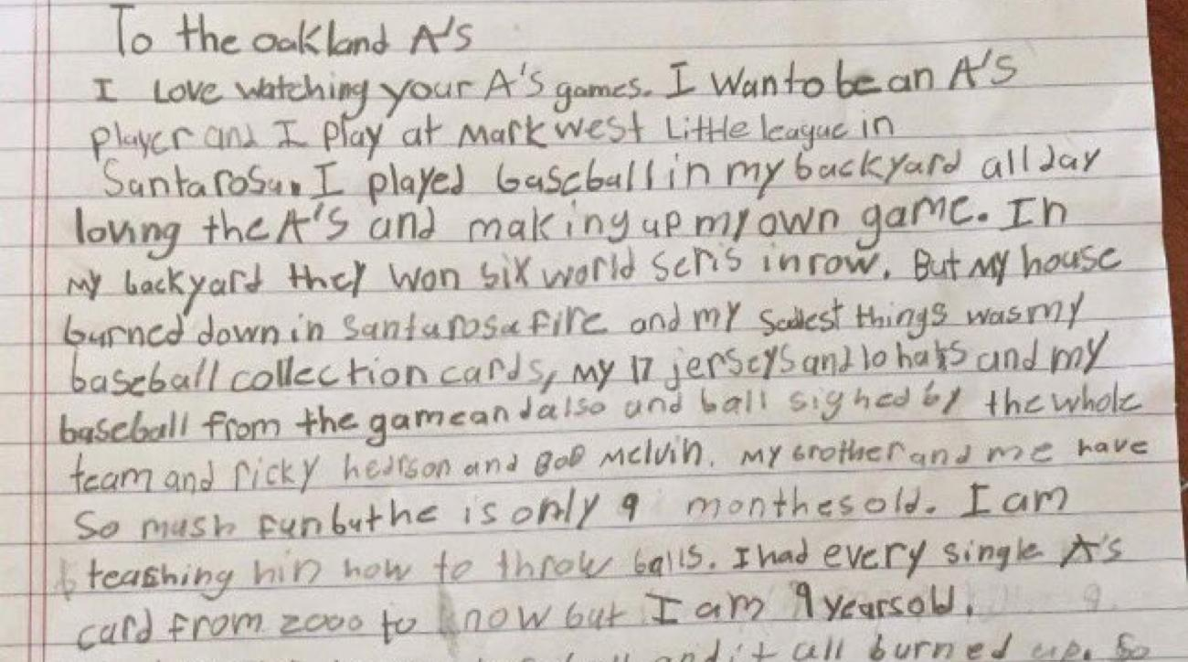 a u0027s fan writes letter after losing memorabilia in wildfire si com