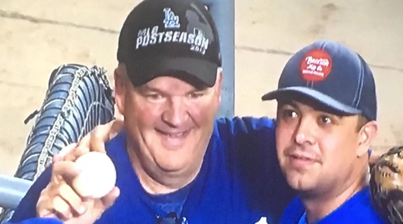 Fan caught multiple Justin Turner home runs