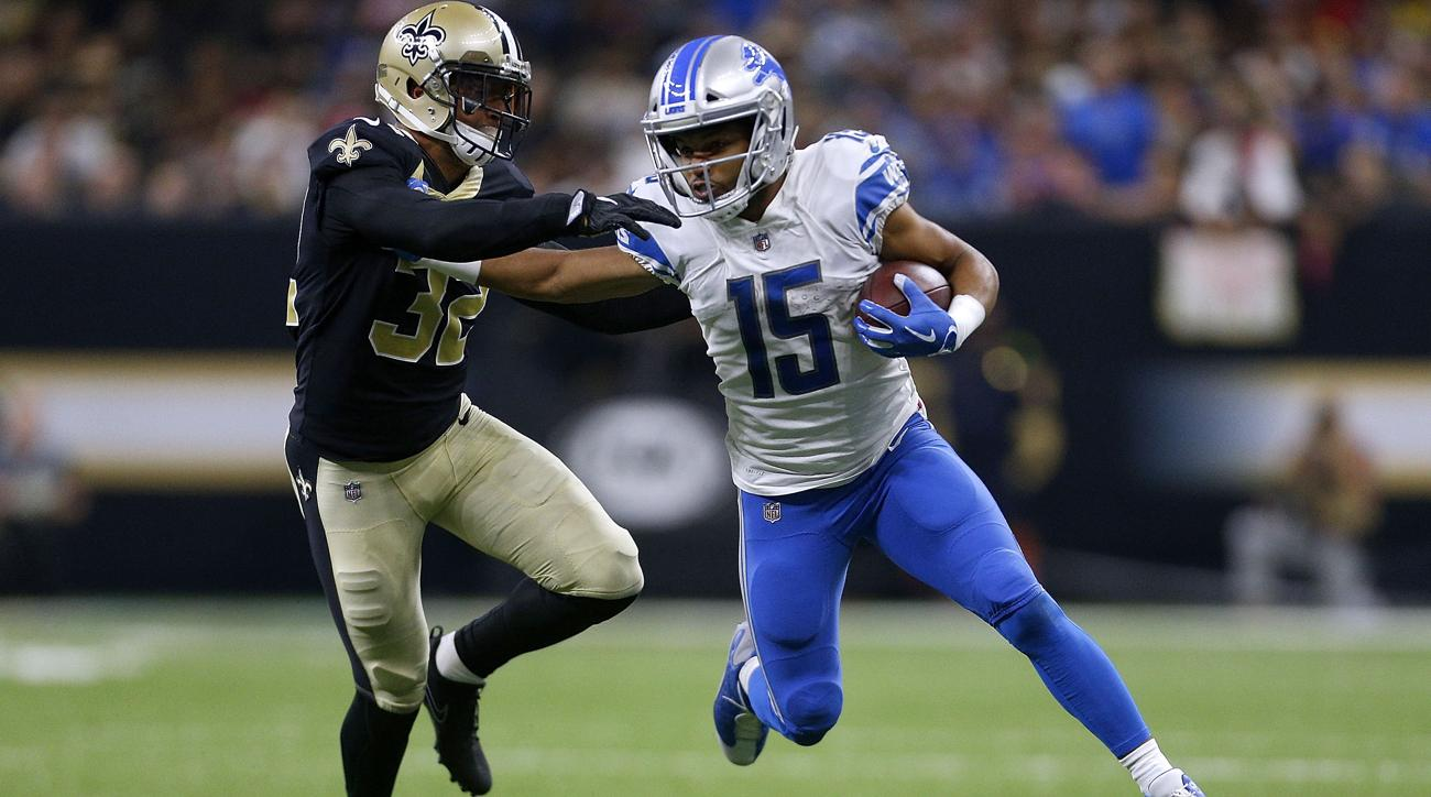 Lions' Golden Tate to miss 'a few weeks' with shoulder injury