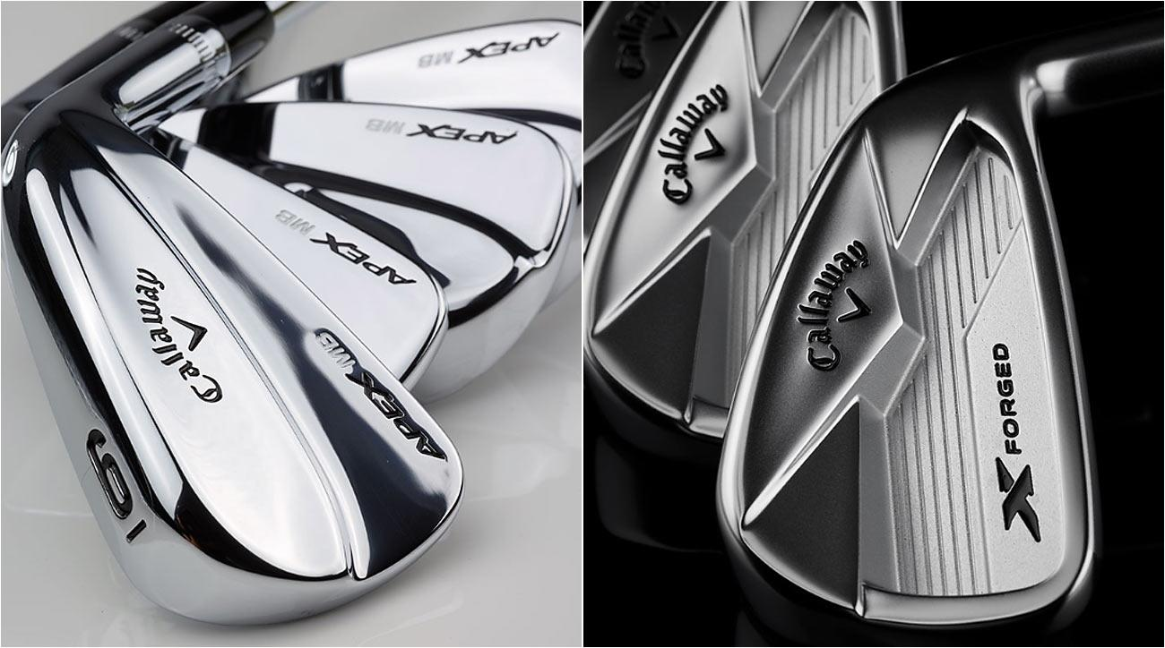 The new Callaway Apex and X Forged irons.