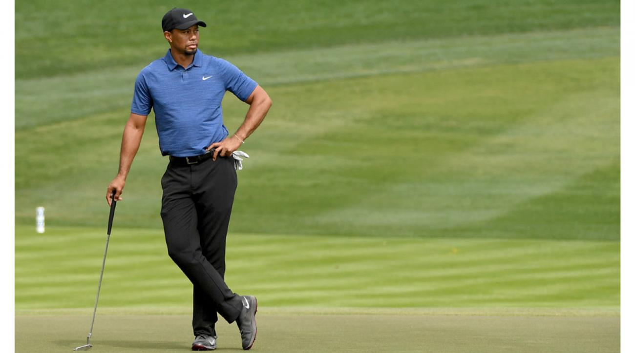 Tiger Woods hasn't played a competitive round since he withdrew from the Dubai Desert Classic in February.