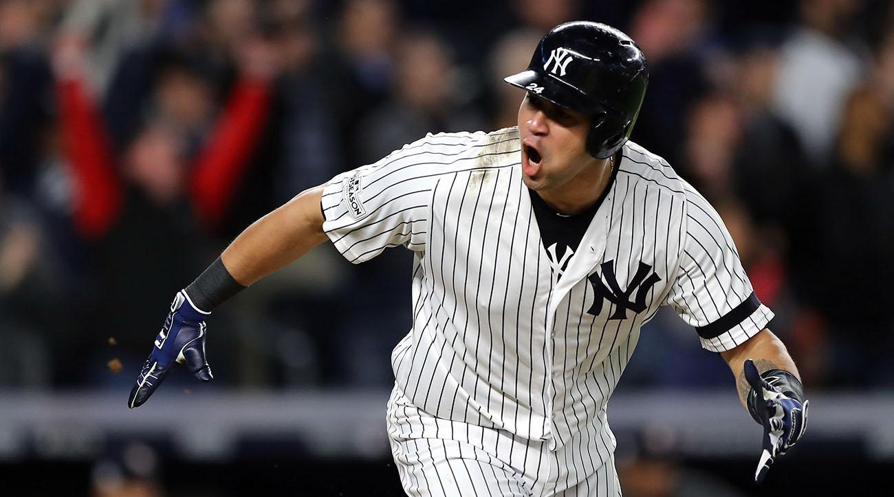 reputable site 3bfe9 602c2 Gary Sanchez adds dimension to Yankees' playoffs offense ...