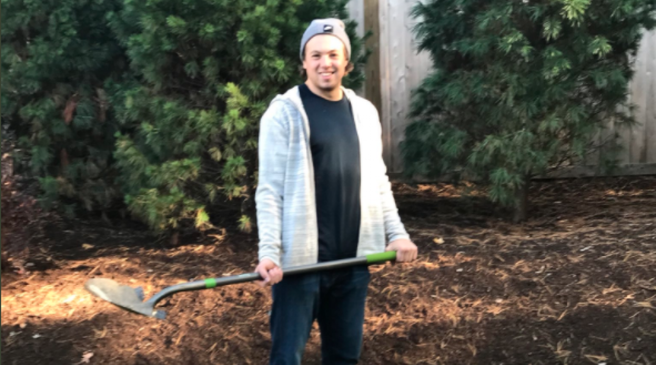 Charlie McAvoy lost a bet to David Backes so he had to pick up his dog's poop.