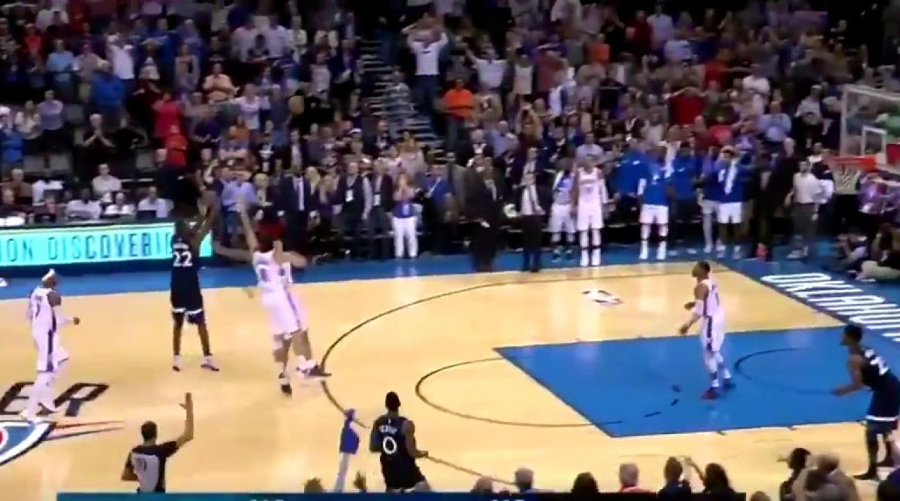 Wiggins banks in 3-pointer at buzzer, T-Wolves top Thunder