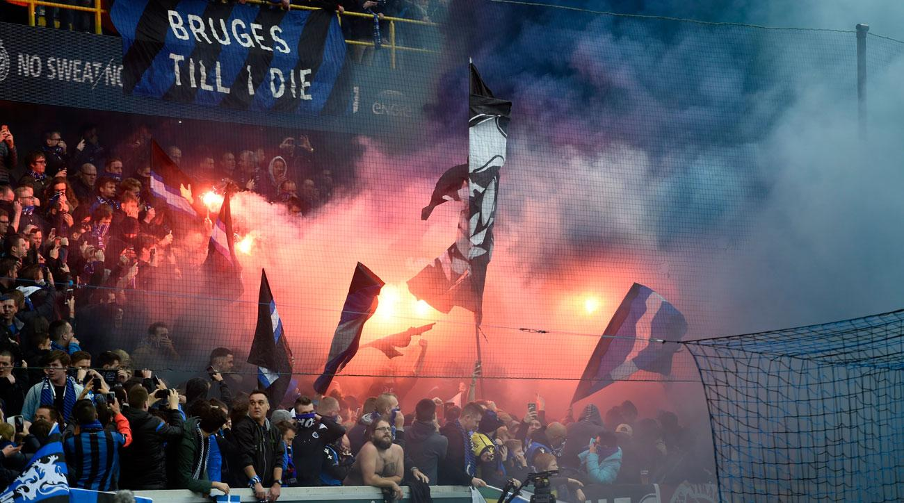 Club Brugge fans were involved in a riot