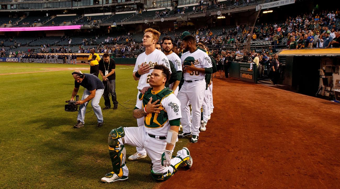 A's Bruce Maxwell says he was denied service by pro-Trump waiter