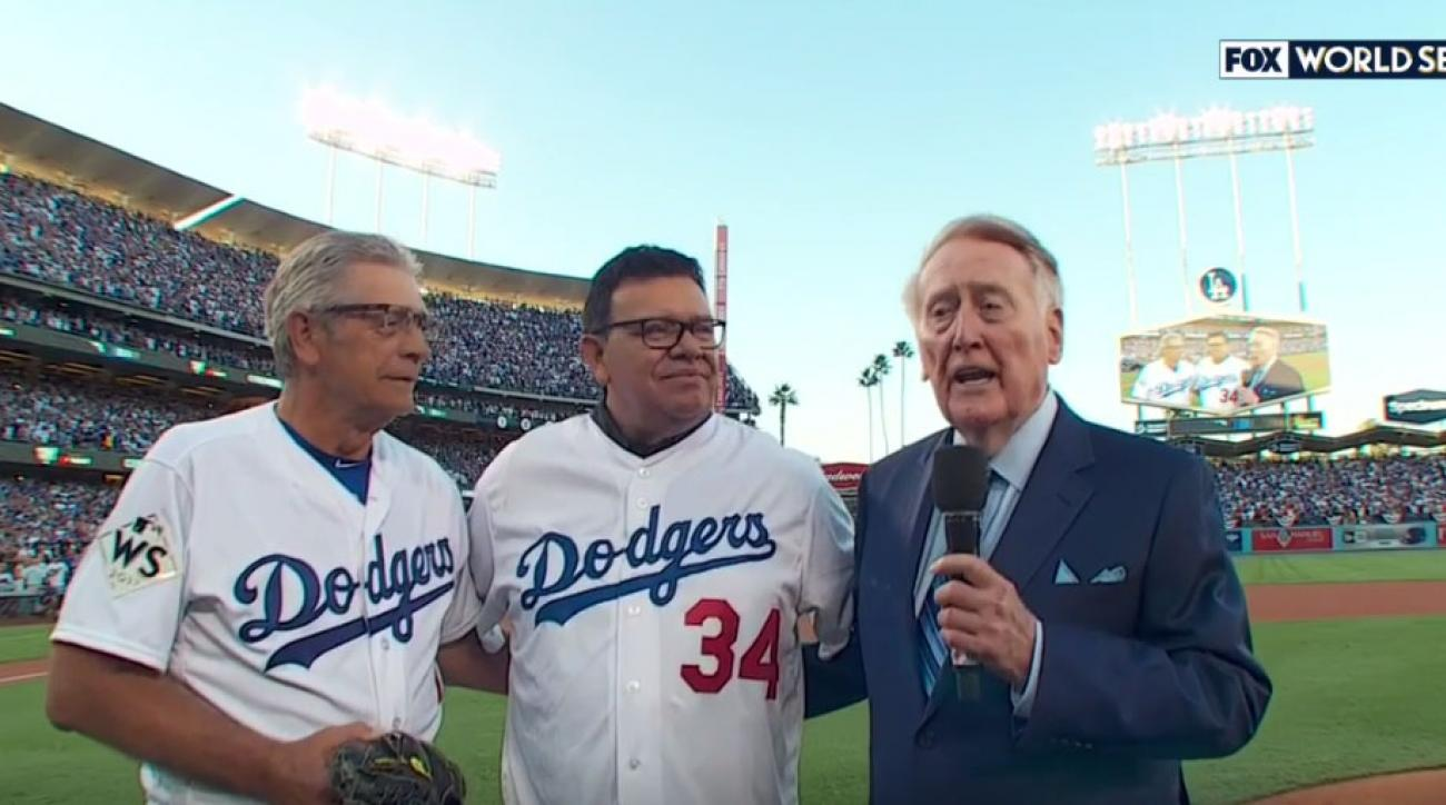 Vin Scully first pitch