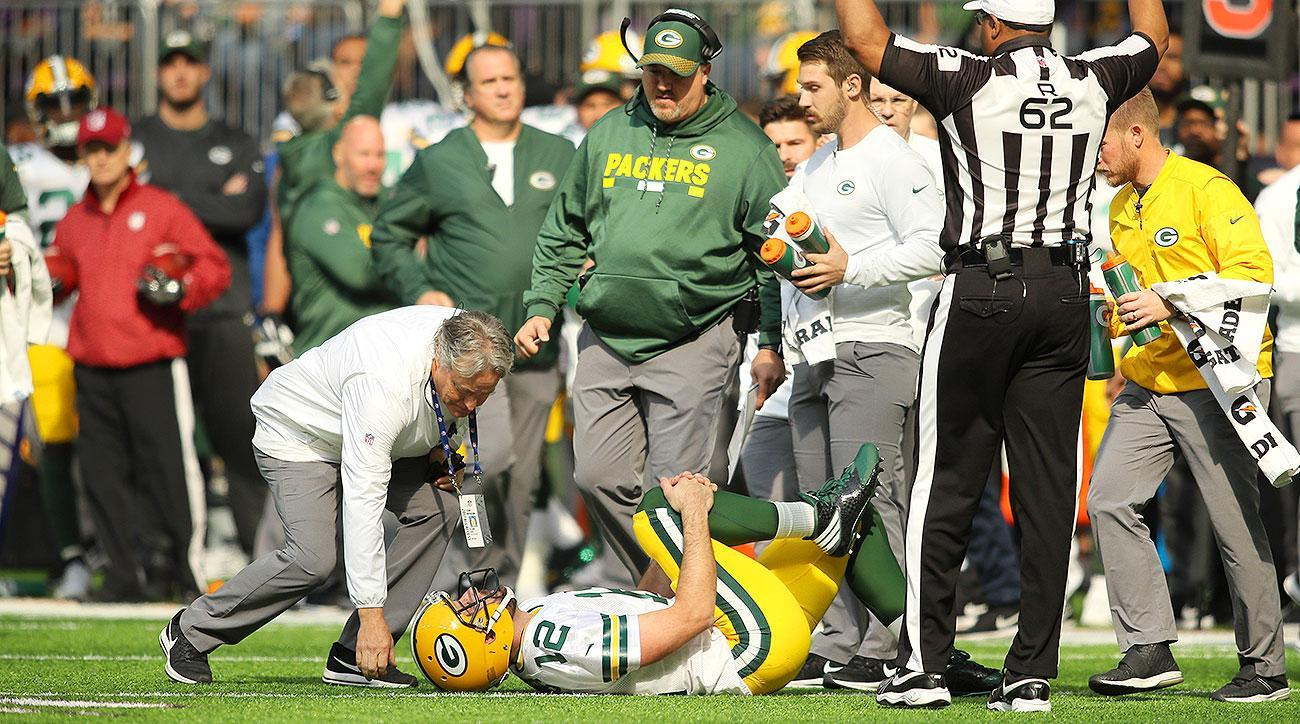 Aaron Rodgers injury Anthony Barr gave QB finger after hit