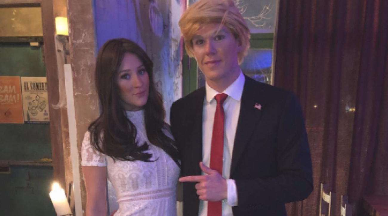 Connor McDavid dresses as Donald Trump for Halloween