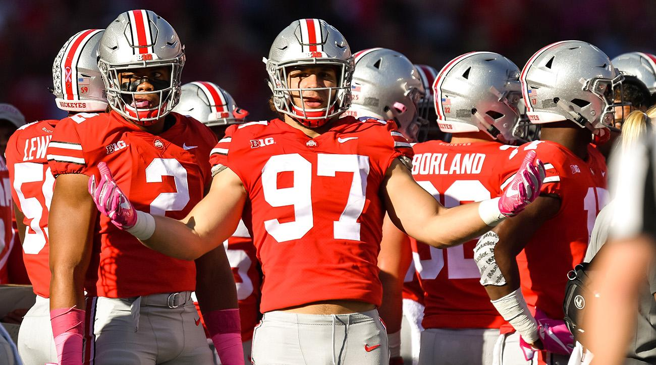 Though neither will be eligible for the 2018 draft, Nick Bosa (No. 97) and Chase Young (No. 2) are the most intriguing NFL prospects on Ohio State's vaunted D-line.