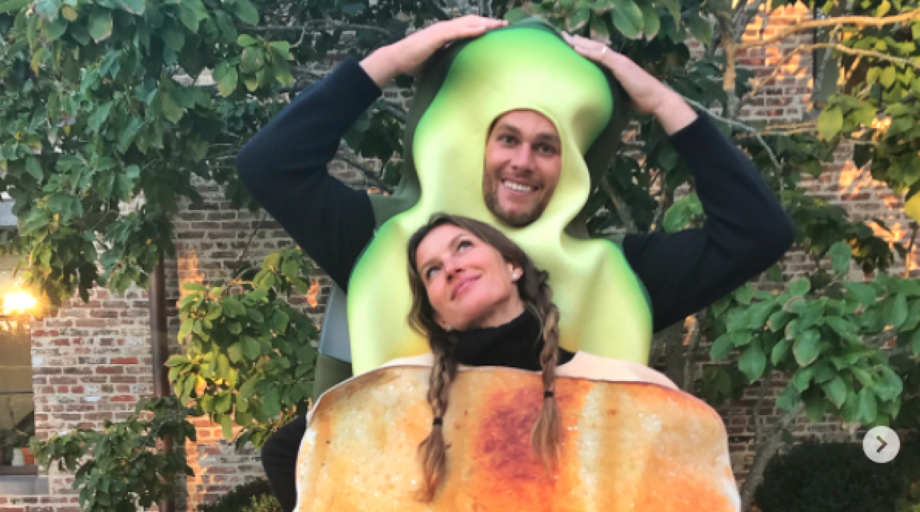 tom brady and gisele show off avocado toast halloween costume | si