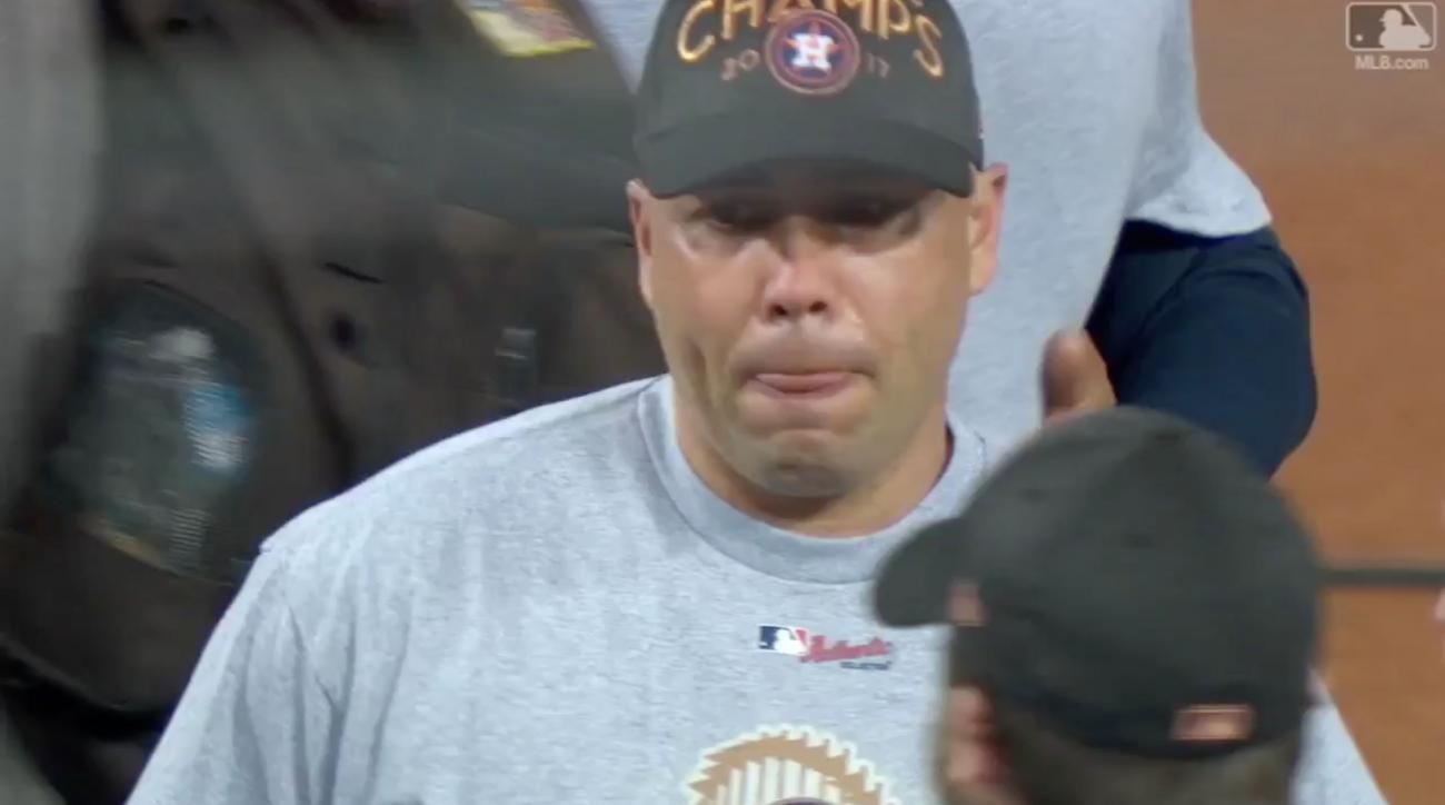 Carlos Beltran crying after World Series