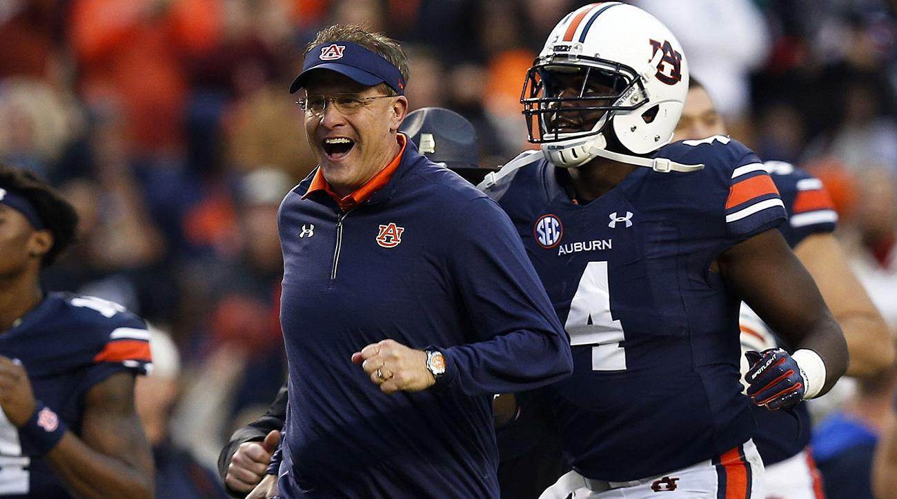 Gus Malzahn, Auburn back in College Football Playoff mix after beating Georgia