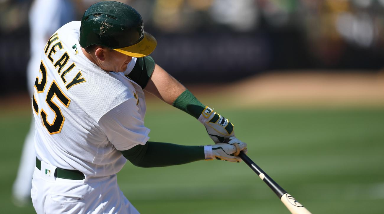 Athletics trade slugger Ryon Healy to Mariners for prospects