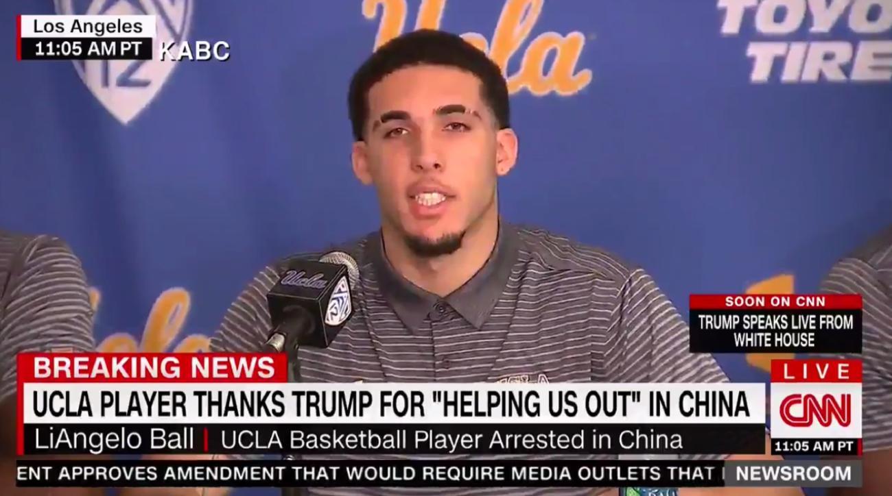 ucla basketball players thank donald trump