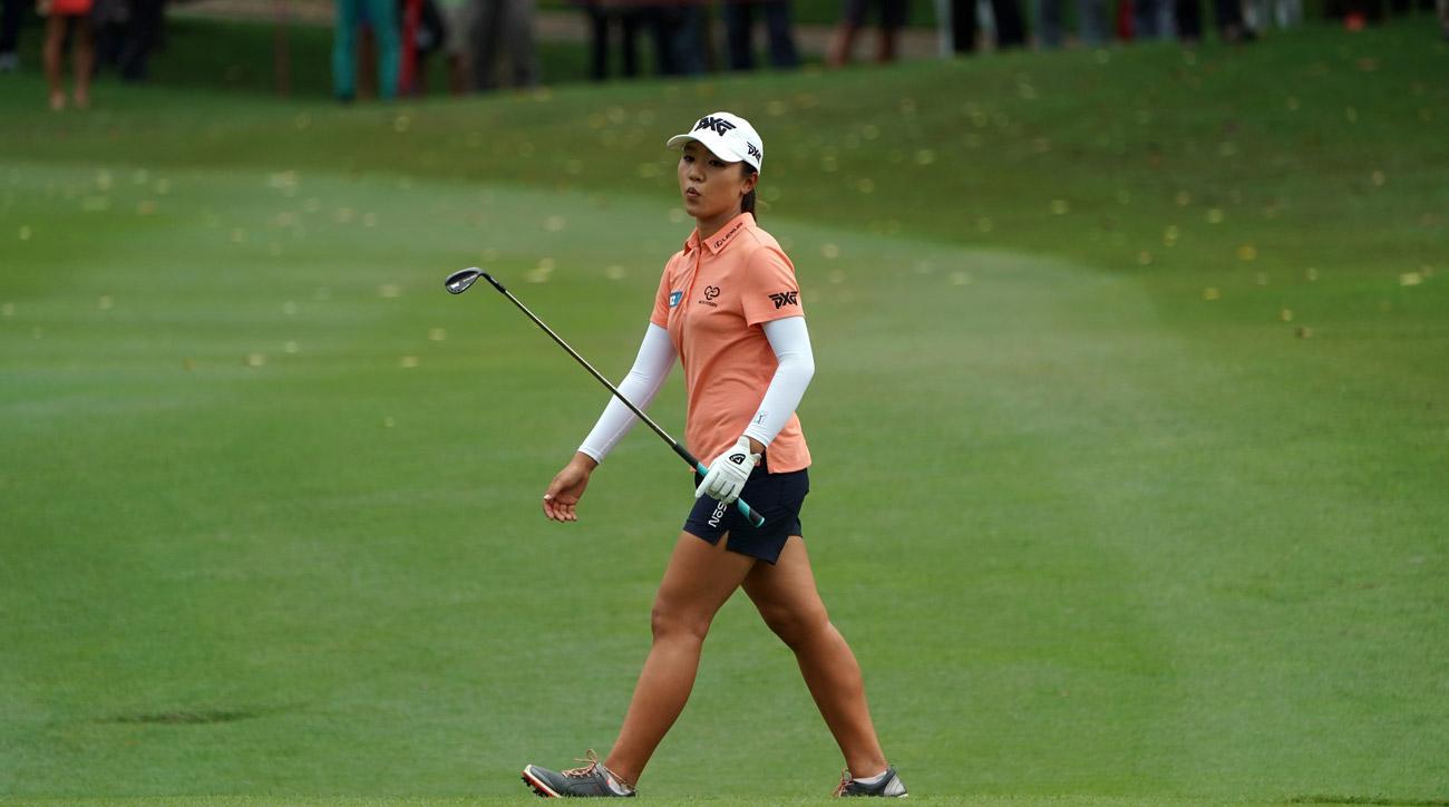 Lydia Koreacts on the 18th hole atthe Sime Darby LPGA Malaysia at TPC Kuala Lumpur East Course