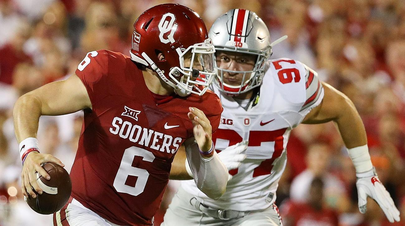 The Baker Mayfield Show Dazzles, Sooners Lead Mountaineers 45-10 At Half