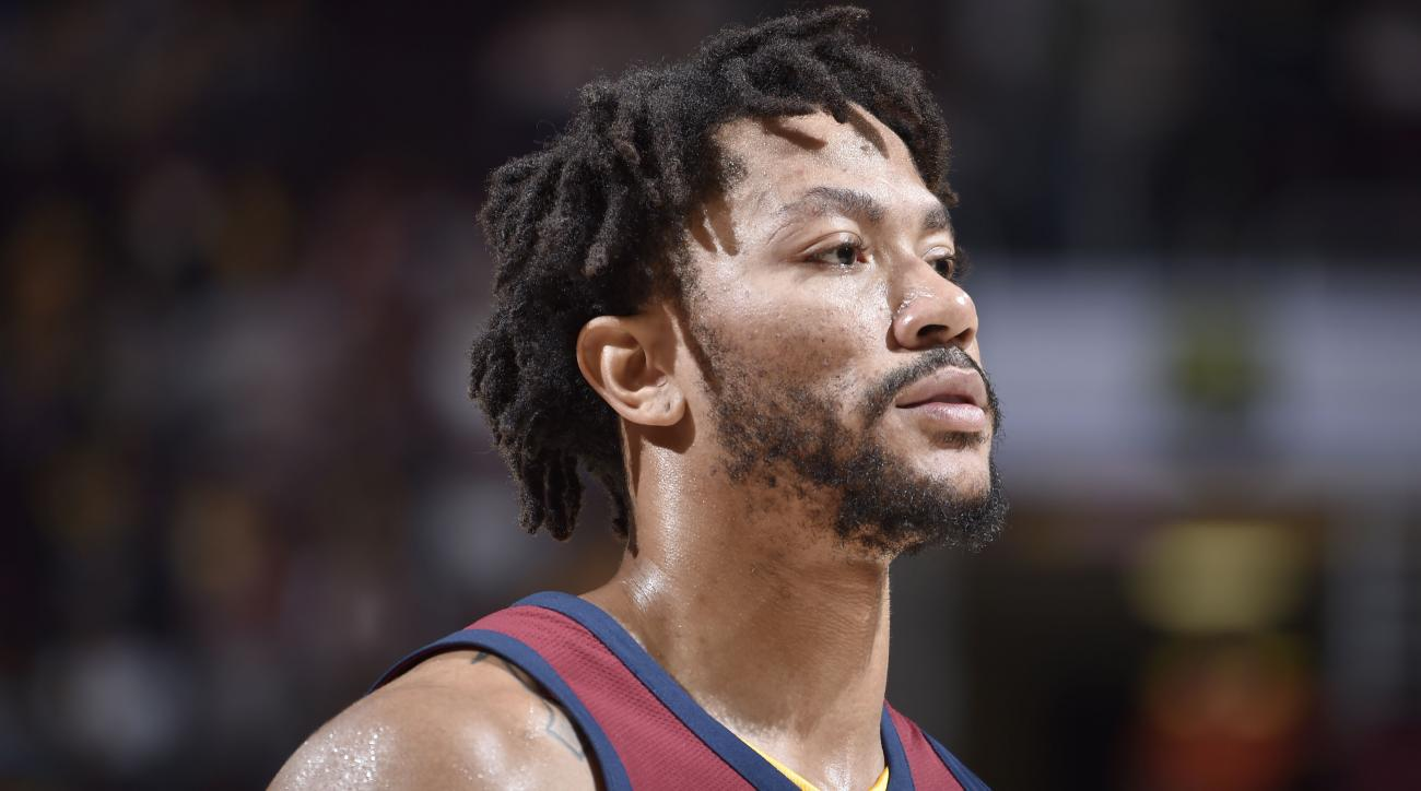 Cavaliers' Derrick Rose (ankle) away from team, evaluating future in National Basketball Association