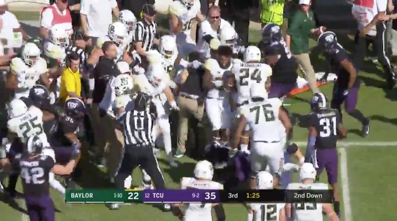 Every player for TCU, Baylor called for penalty on single play